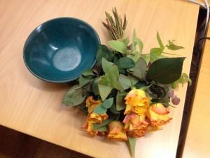 Jag fick present och blommor när jag slutade på Hallandsposten efter ... många år.
