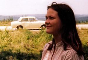 Första bilen och skribenten som mycket ung.